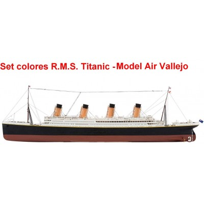SET PINTURAS R.M.S. TITANIC, VALLEJO MODEL AIR