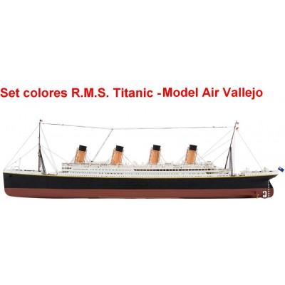 SET PINTURAS R.M.S. TITANIC, VALLEJO MODEL AIR