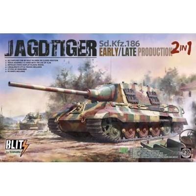 CAZACARROS Sd.Kfz.186 JAGDTIGER (Early / Late) 2 en 1 -1/35- Takom 8001