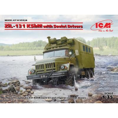 CAMION ZIL-131 KShM & CONDUCTORES SOVIETICOS -1/35- ICM 35524