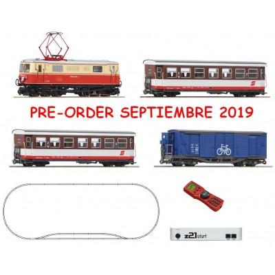 EQUIPO DIGITAL Locomotora Eléctrica 1099.014-1 Coches viajeros / Bicicletas OBB -H0 / 1/87- Roco 31033