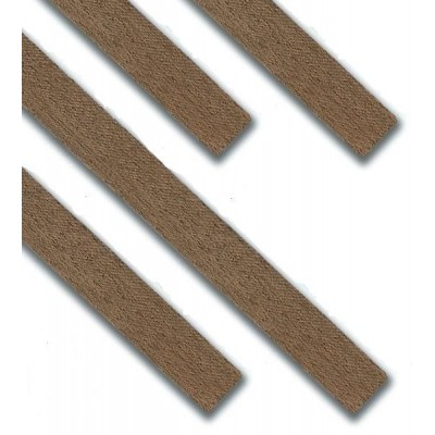CHAPA RECTANGULAR NOGAL (0,6 x 4 x 1.000 mm) 25 unidades