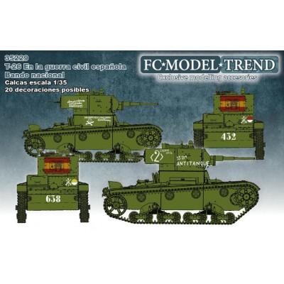 Set calcas carro T-26 (España), Bando Nacional -1/35 - FC Modeltips 35229