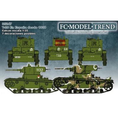 SET CALCAS CARRO T-26 (España) -1/35 - FC Modeltips 35247