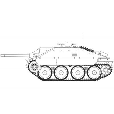 CAZACARROS 38 (t) SD.KFZ. 138/2 (Late) HETZER -1/35- Airfix A1353