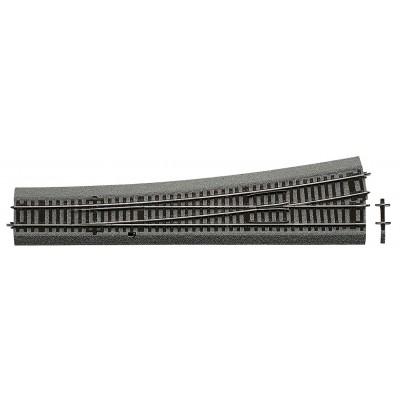 VIA RLB DESVIO RECTO (L : 345 mm) IZQUIERDA (R: 1946 mm)10º -Escala h0 - 1/87- Roco Line Balasto 42580