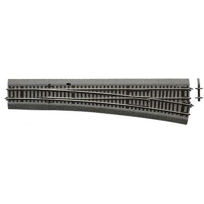VIA RLB DESVIO RECTO LARGO (L : 345 mm) DERECHO (R: 1946 mm) 10º -Escala h0 - 1/87- Roco Line Balasto 42581