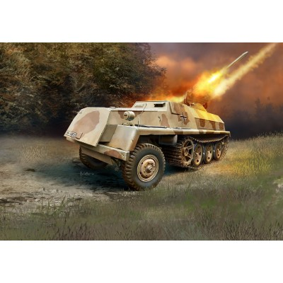 VEHICULO LANZACOHETES Sd.kFZ. 4/1 SWS PANZERWERFER 42 (150 mm) -1/72- Revell 03264