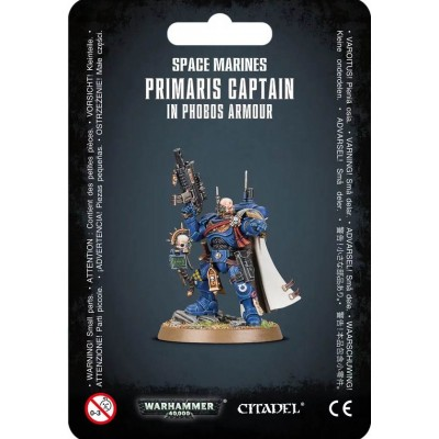 SPACE MARINE PRIMARIS CAPTAIN IN PHOBOS ARMOUR - GAMES WORKSHOP 48-68