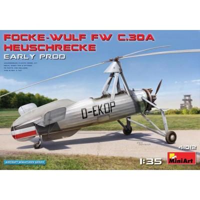 FOCKE-WULF Fw. C.30 A HEUSCHRECKE (Early) -Escala 1/35- MiniArt Model 41012