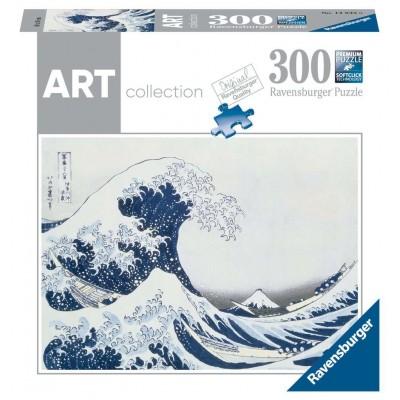 PUZZLE 300 PZS THE GREAT WAVE OF KANAGAWA HOKUSAI , KATSUSHIKA - RAVENSBURGER 14845