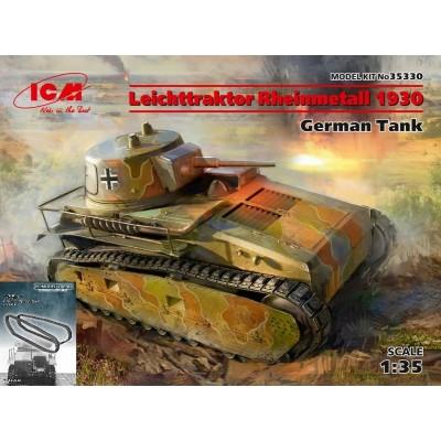 CARRO DE COMBATE LEICHTTRAKTOR (Vs.Kfz.31) Rheinmetall 1930 & ORUGAS-1/35-