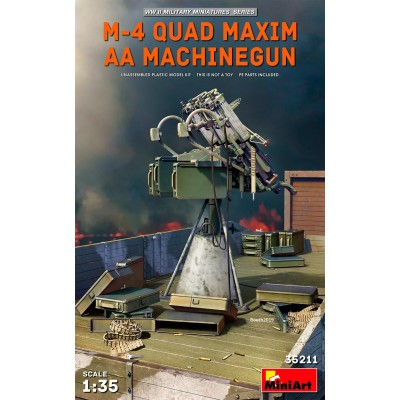 MONTAJE ANTIAEREO M-4 QUAD MAXIN -1/35- MiniArt Models 35211
