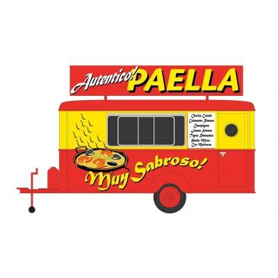 TRAILER COMIDA PAELLA - ESCALA H0 - HC5003