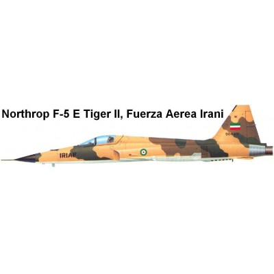 SET COLORES F-5 Fuerza Aerea Irani - Vallejo Model Air
