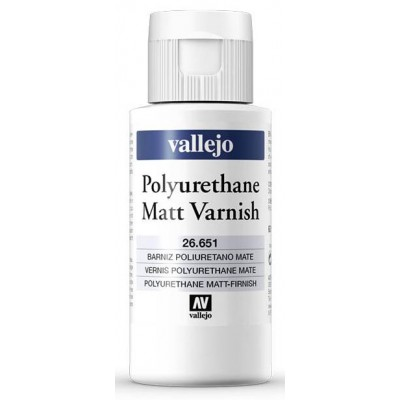 BARNIZ MATE POLIURETANO (60 ml) - Acrilicos Vallejo 26651
