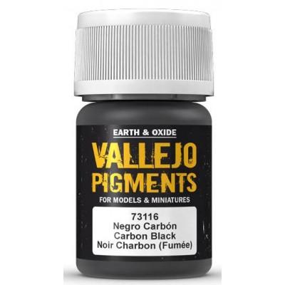 "PIGMENTO NEGRO CARBON ""HUMO"" (30 ml) - Acrilicos Vallejo 73116"