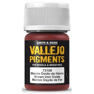 PIGMENTO MARRON OXIDO DE HIERRO (30 ml) - Acrilicos Vallejo 73108