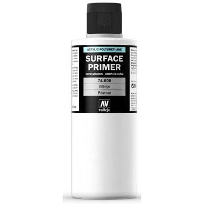 SURFACE PRIMER: BLANCA (200 ml) - Acrylicos Vallejo 74600