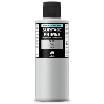 SURFACE PRIMER: GRIS (200 ml) - Acrylicos Vallejo 74601