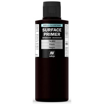 SURFACE PRIMER: NEGRA (200 ml) - Acrylicos Vallejo 74602