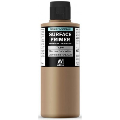 SURFACE PRIMER: DUNKELGELB RAL 7028 (200 ml) - Acrylicos Vallejo 74604