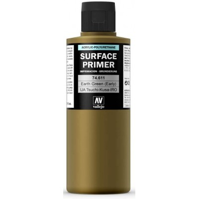 SURFACE PRIMER: TIERRA VERDE (200 ml) IJA TSUCH-KUSA-IRO - Acrylicos Vallejo 74611
