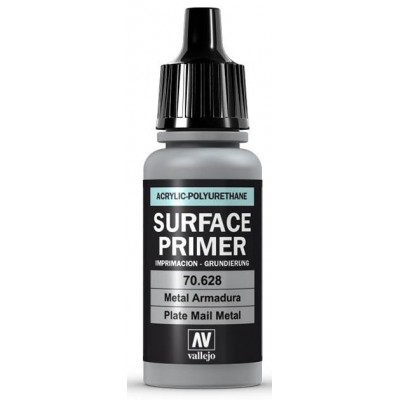 SURFACE PRIMER: METAL ARMADURA (17 ml) - Acrylicos Vallejo 70628
