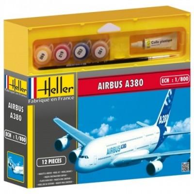 AIRBUS A380 (Pegamento & pinturas) -1/800- Heller 49075