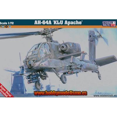 AH-64A KLU APACHE - ESCALA 1/72 - MISTER HOBBY CRAFT - 040376