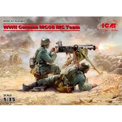 EQUIPO AMETRALLADORA ALEMAN MG08 (2ª Guerra Mundial) -1/35- ICM 35645