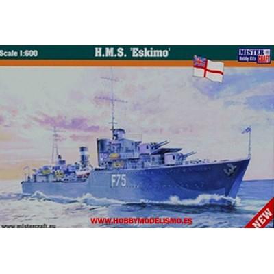 DESTRUCTOR BRITANICO HMS ESKIMO WWII - ESCALA 1/600 - MISTERCRAFT 030926 - S92
