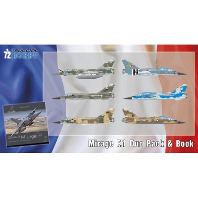 DASSAULT MIRAGE F.1 DUO PACK & LIBRO -1/72- Special Hobby 72414