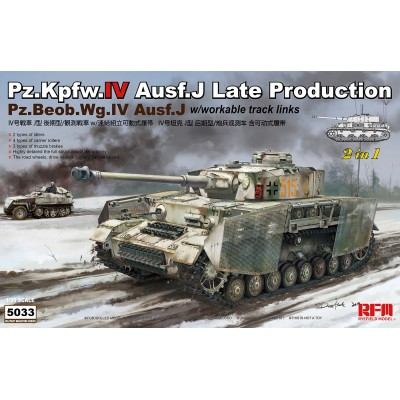 CARRO DE COMBATE SD.KFZ.161 Ausf. J (Later) PANZER IV 1/35 - Rye Field Model 5033