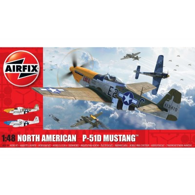 NORTH AMERICAN P-51 D MUSTANG 1/48 - Airfix A05138