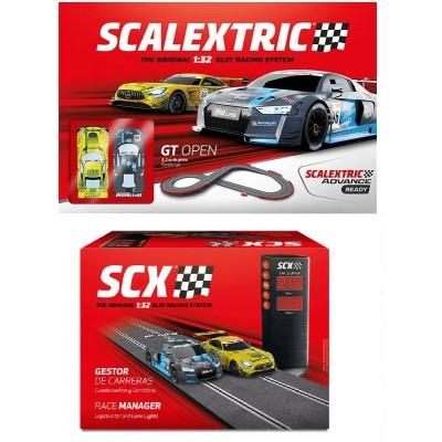 Circuito scalextric gt open con gestor de carreras