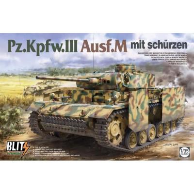CARRO DE COMBATE Sd.Kfz. 141 PANZER III Ausf. M (Schurzen) -1/35- Takom 8002