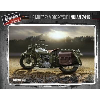 MOTOCICLETA INDIAN 741B (2 unidades) -1/35- Thunder Model 35003