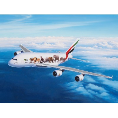 """AIRBUS A380-800 Fly Emirates """"Wild Life"""" -1/144- Revell 03882"""