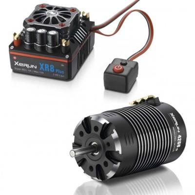 Xerun XR8 Plus Combo con 4268-2200kV para 1:8 Truggy Monster HOBBYWING 38020424