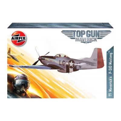 "Top Gun: NORTH AMERICAN P-51 D MUSTANG ""Maverick"" -1/72- Airfix A00505"