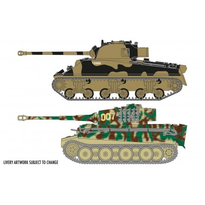 CLASSIC CONFLICT (Tiger I vs Sherman Firefly) -1/72- Airfix A50186