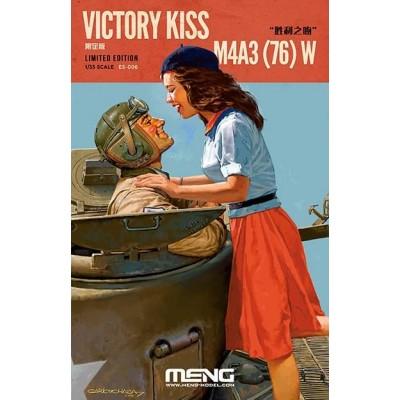 """VICTORY KISS"" CARRO DE COMBATE M-4 A3 (76) W SHERMAN (Limited Edition) -1/35- Meng Model ES-006"