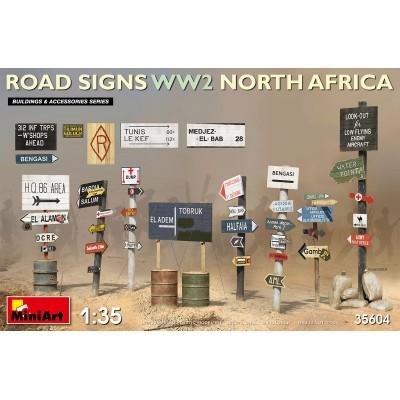 SEÑALES DE CARRETERAS NORTE DE AFRICA -1/35- MiniArt 35604