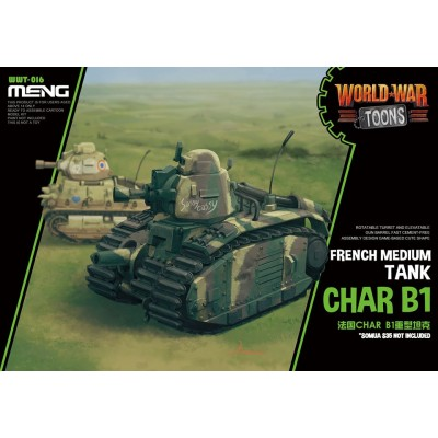 CARRO DE COMBATE CHAR B-1 bis -TOONS- Meng Model WWT-016