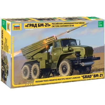 CAMION LANZA COHETES BM-21 GRAD -1/35- Zvezda 3655