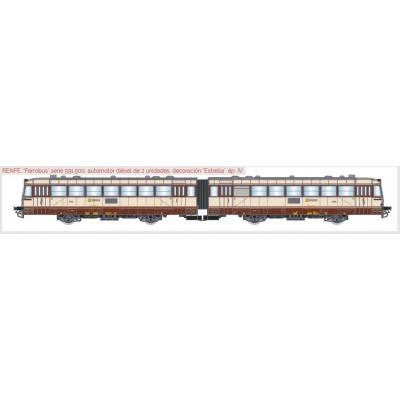 FERROBUS DIESEL RENFE 591.500 (2 unidades) ESTRELLA Ep. IV -H0 - 1/87- Digital & Sonido - Electrotren E3619S