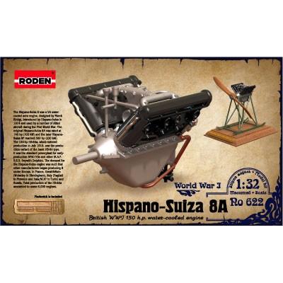 MOTOR HISPANO-SUIZA 8A -1/32- Roden 622
