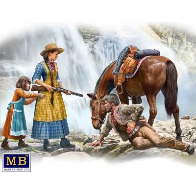 OUTLAW. GUNSLINGER SERIES. Kit Nº1 Marshal Tom Tucker, Molly and Rebecca -1/35- Master Box 35203