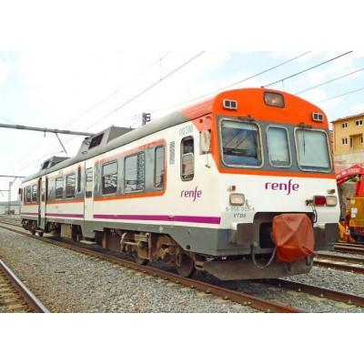 AUTOMOTOR DIESEL 596 MEDIA DISTANCIA RENFE Ep. VI -H0 - 1/87- Electrotren HE2504B